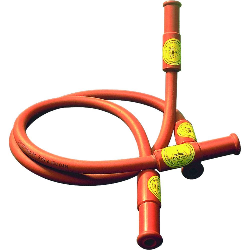 Tuyaux gaz de s curit caoutchouc avec armure m tallique for Tuyaux de gaz de ville