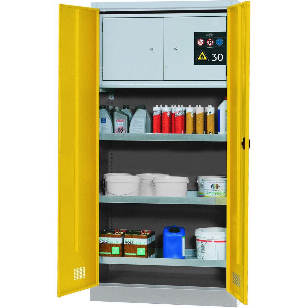armoire de s curit avec coffre 30 min pour produits. Black Bedroom Furniture Sets. Home Design Ideas