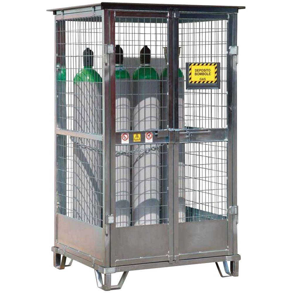 cages de stockage pour bouteille de gaz en acier galvanis. Black Bedroom Furniture Sets. Home Design Ideas