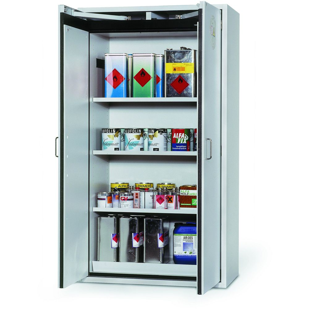 armoires en14470 1 pour produits inflammables 3 tag res. Black Bedroom Furniture Sets. Home Design Ideas
